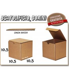 Scatola fustellata 10,5x10,5x10,5