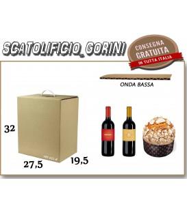 Scatola PANETTONE E BOTTIGLIA NATALE 27,5X19,5X32