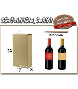 Scatola CON MANIGLIA PER 2 BOTTIGLIE 17x8x32