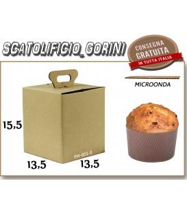 Scatola PER PANETTONE  PICCOLO 13,5x13,5x15,5