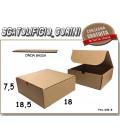 Scatola fustellata 18,5x18x7,5