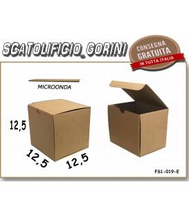 Scatola fustellata 12,5x12,5x12,5