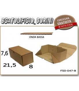 Scatola fustellata 21,5x8x7,6