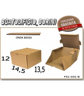 Scatola fustellata 14,5x13,5x12