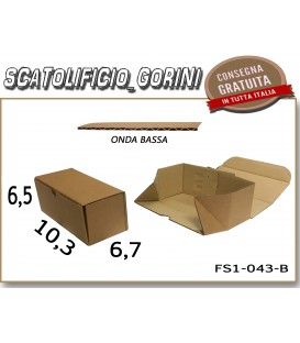 Scatola fustellata 10,3x6,7x6,5