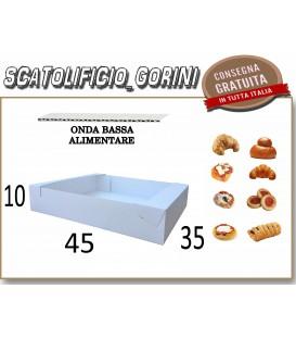 Scatola vassoio 45x35x10 cartone alimentare