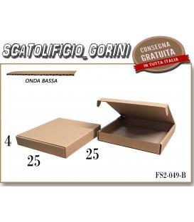 Scatola fustellata 25x25x4