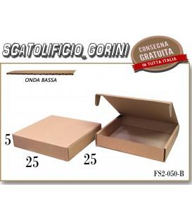 Scatola fustellata 25x25x5